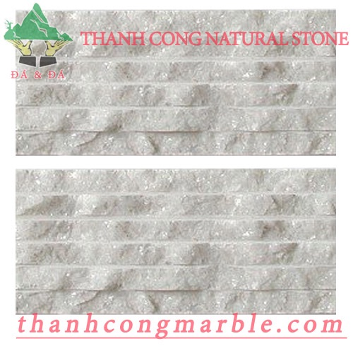Crystal White Marble Chiseled Tile 01